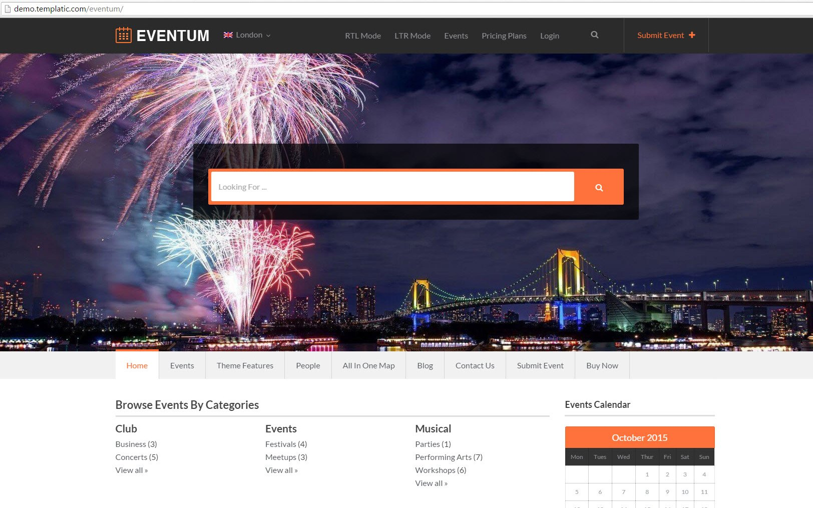 Eventum Demo Screen