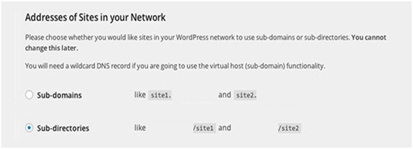 Enable WordPress Multisite-Sub-Domain