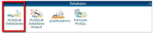 How to install WordPress-MySql Icon