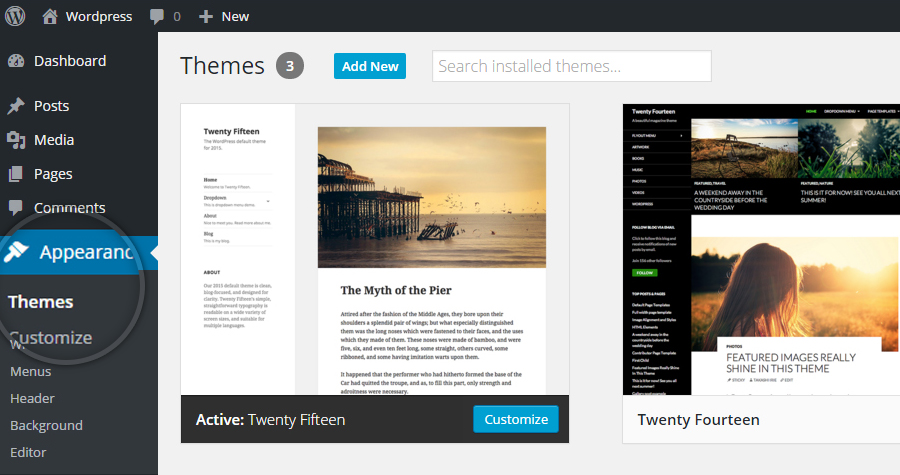 How to install a theme in WordPress-Step_1