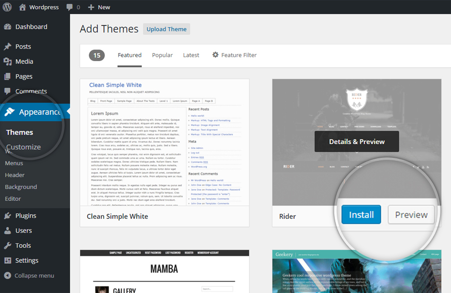How to install a theme in WordPress-Step_2