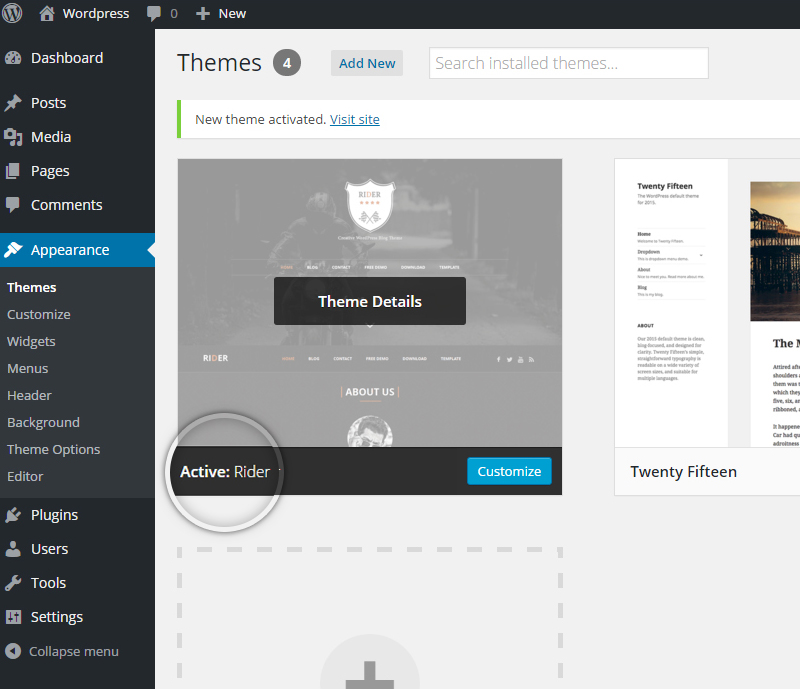 How to install a theme in WordPress-Step_4
