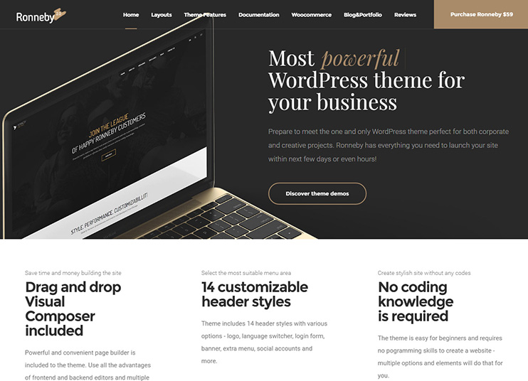 Ronneby WordPress Theme at themeforest
