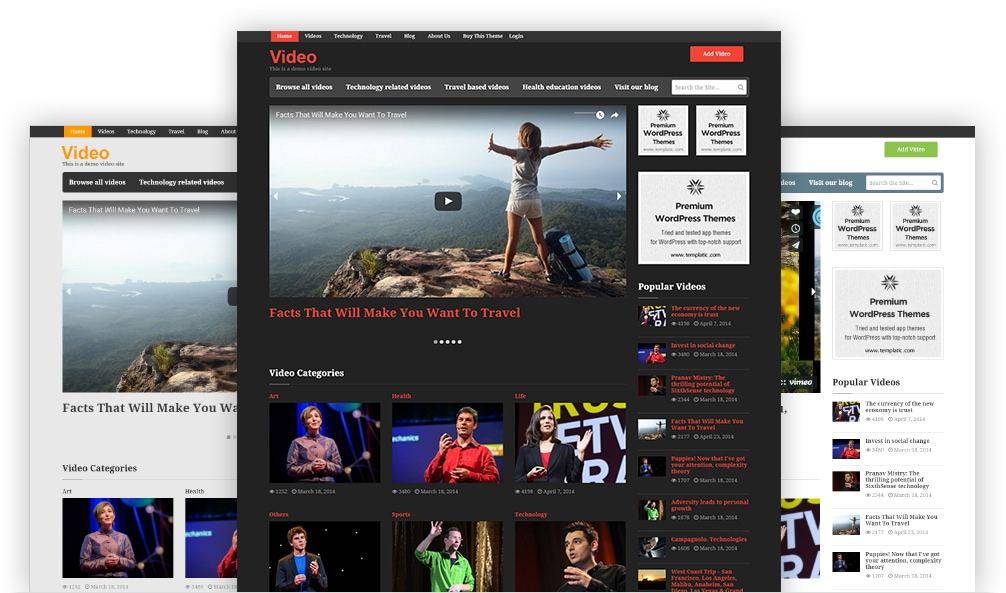 Customize your wordpress video theme