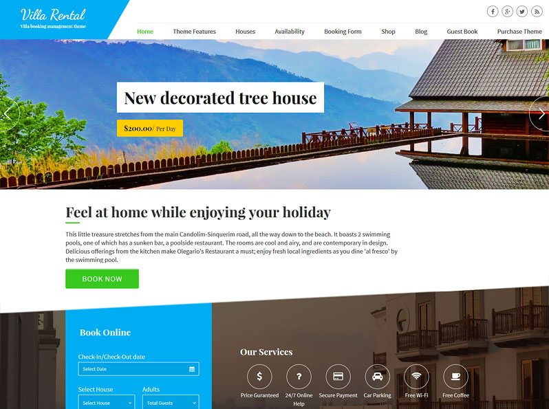 Villa Rental Theme