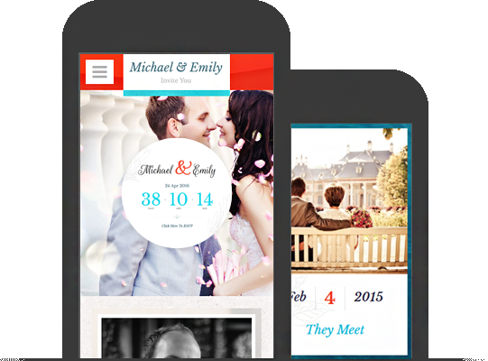 Fully Mobile Compatible Wedding Theme