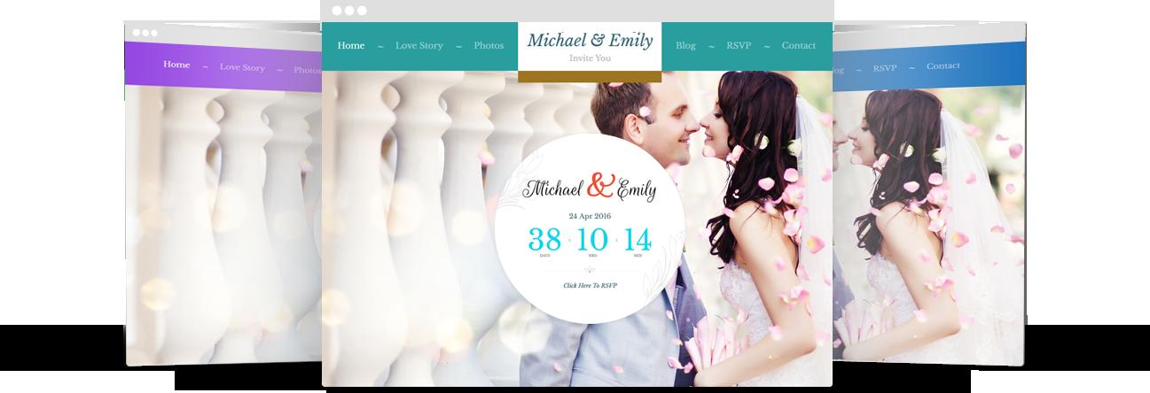 Fully Color Customized WordPress Wedding Theme