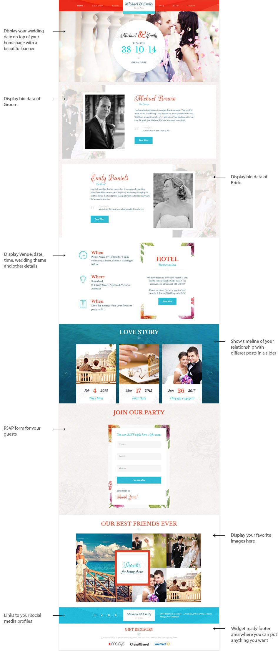 Wedding WordPress Theme [2018] | Wedding Theme for WordPress