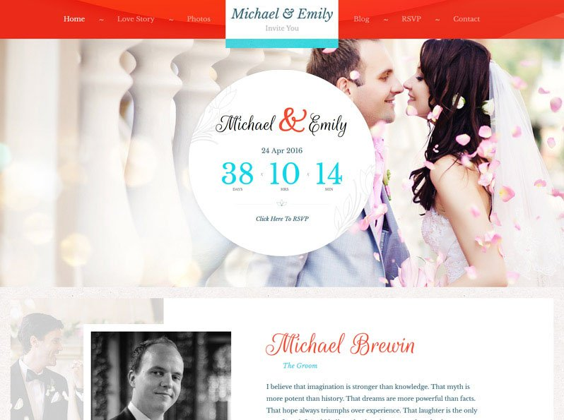 Wedding Theme for WordPress