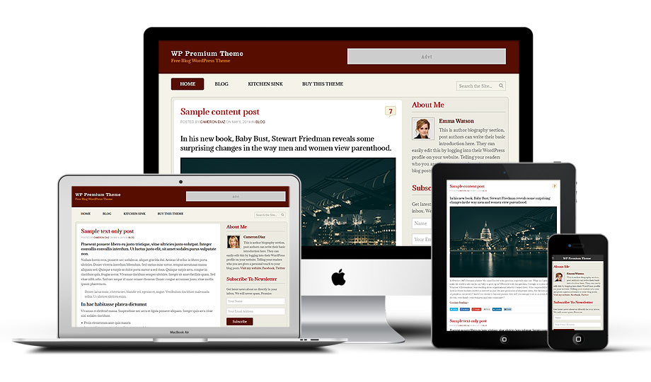 WP Premium - A responsive free WordPress theme