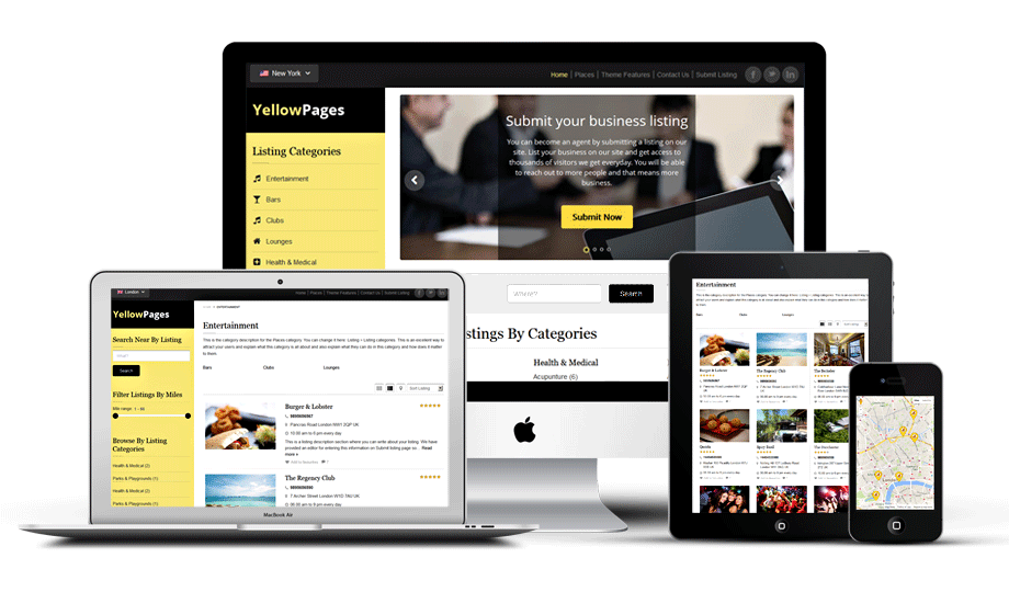 Yellow Pages Directory Theme