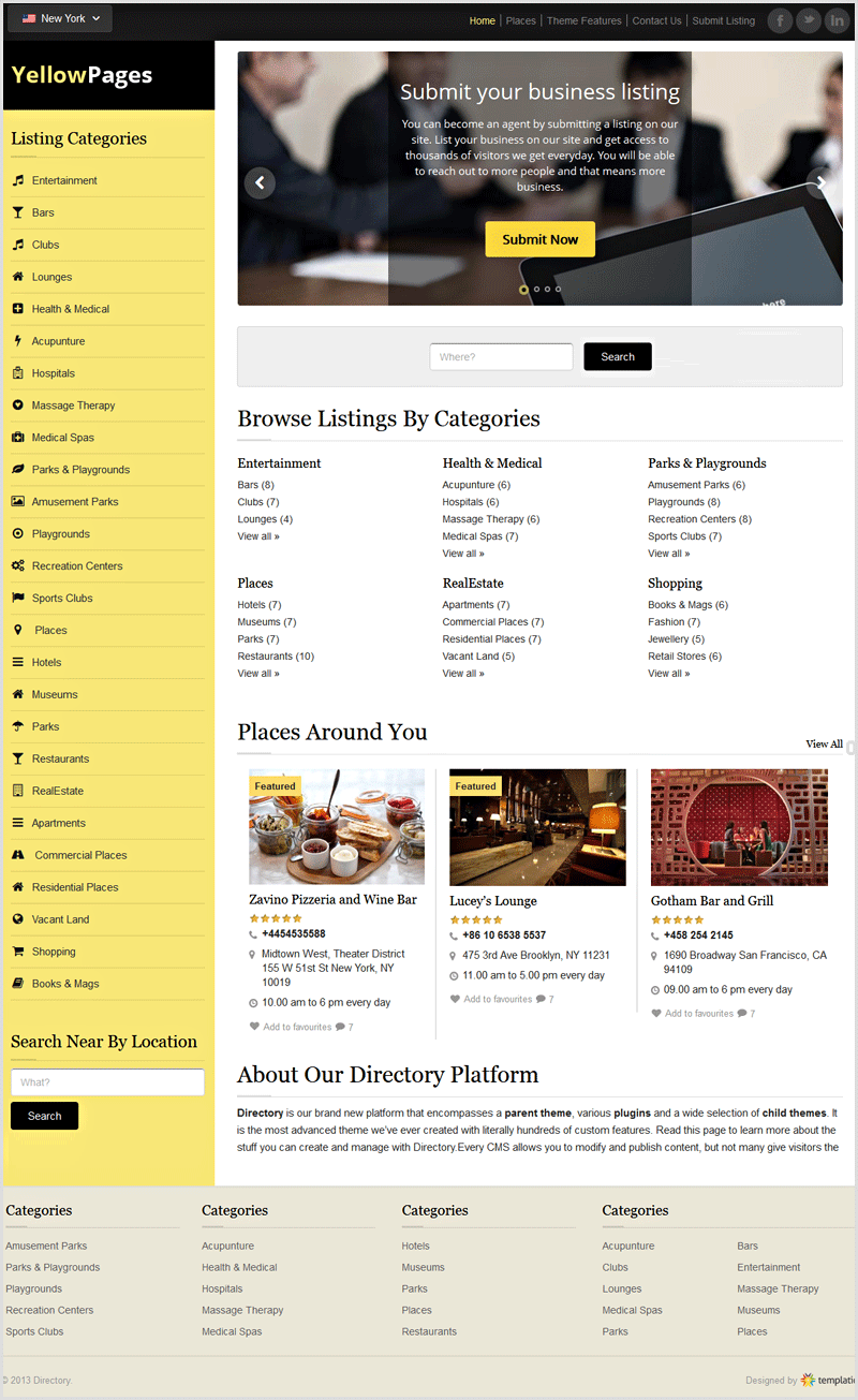 Yellow Pages WordPress Themes