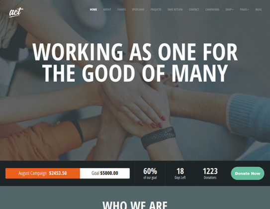 Act Multipurpose Nonprofit Theme