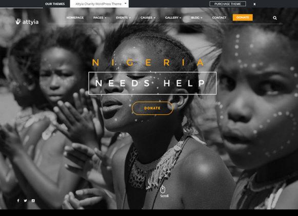 Attiya NGO Charity Theme