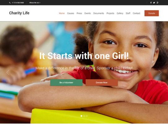 Charity Life WP Theme
