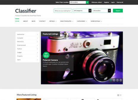 classifier premium WordPress theme