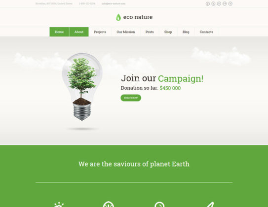 Eco Nature WP Theme