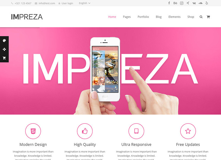 Impreza theme at themeforest
