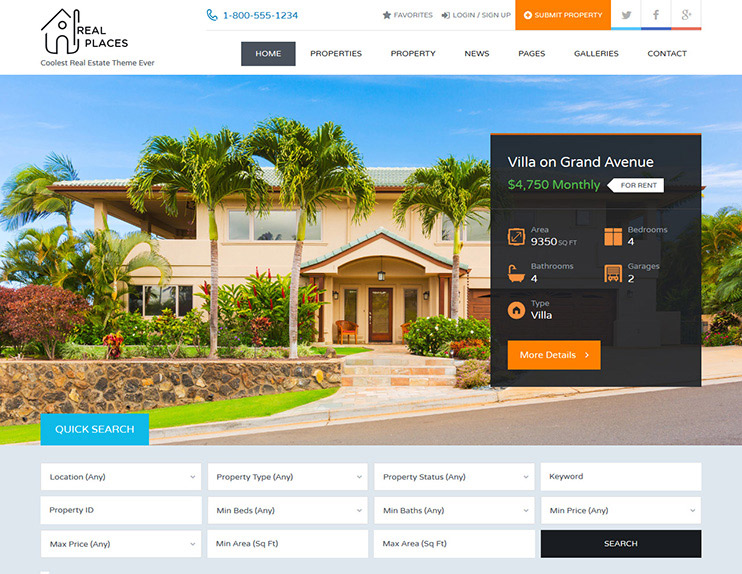55+ Best Real Estate WordPress Themes 2018 - SlashWP
