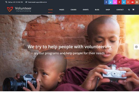 Volunteer WP Theme