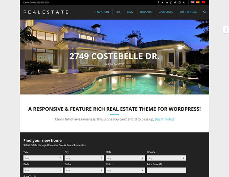 Best Real Estate WordPress Themes SlashWP - Real estate template wordpress