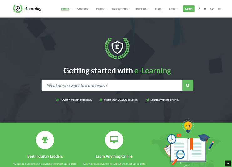 55+ Best Education WordPress themes for Training centers