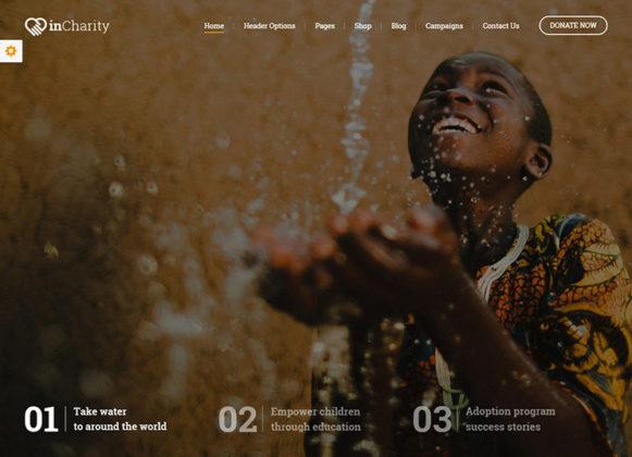 InCharity WordPress Theme