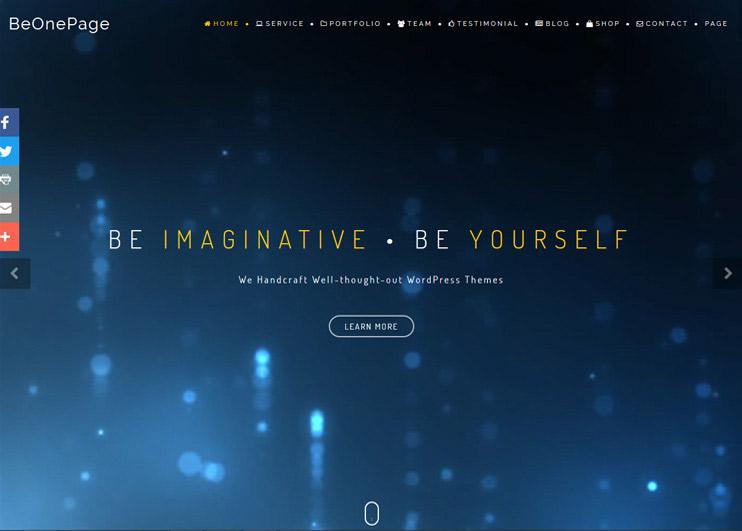 BeOnePage WordPress Theme