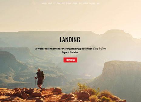 landing page wordpress themes
