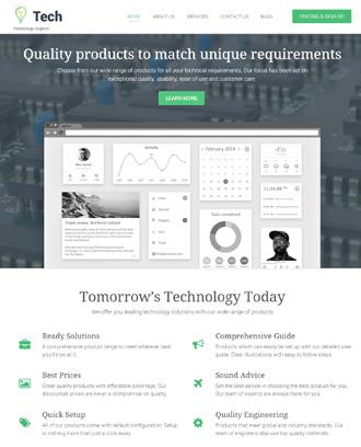 tech business wordpress theme