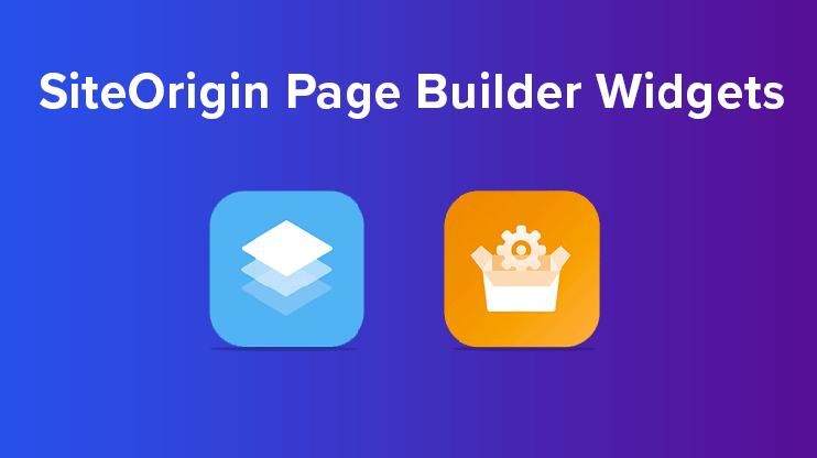siteorigin page builder extra widgets