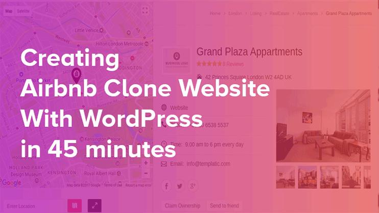 airbnb wordpress clone directory