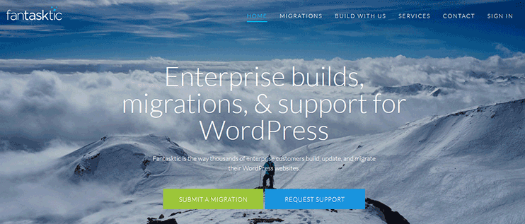 Custom WordPress site migration service