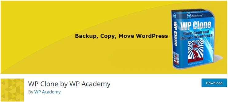 Moving WordPress website - WP Clone plugin