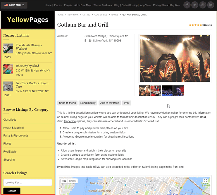 Yellow Pages Directory Software to Create Yellow Page