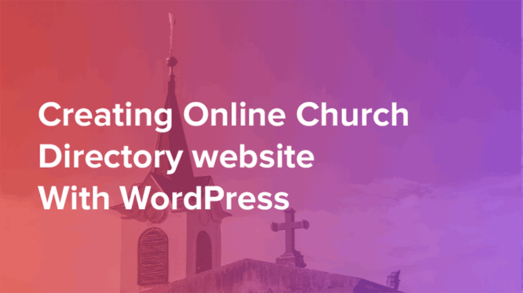 Church directory website template