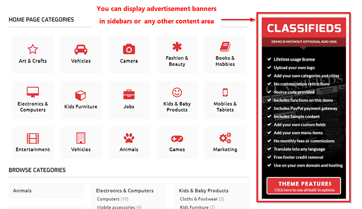 make money through classifieds website