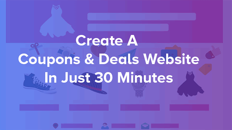 create an online coupon directory software in less than 30 minutes