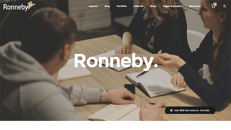 Ronneby Parallax Theme
