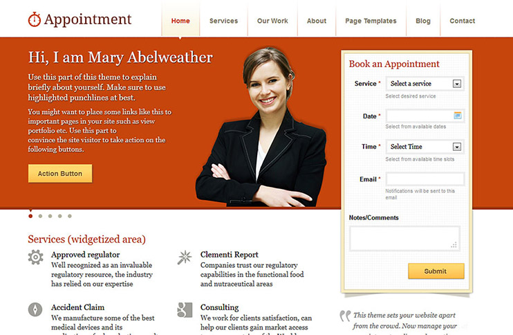 Appointment WordPress business theme