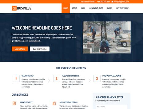 Smallbiz small business website theme