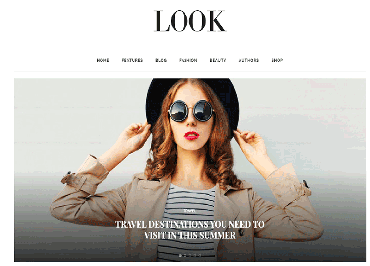 Beauty blog WordPress theme at themeforest