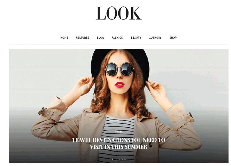 Beauty blog WordPress theme at themeforest