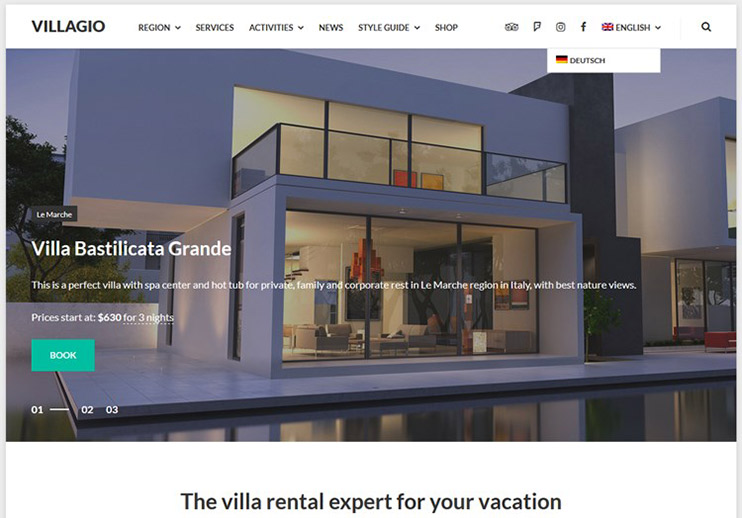 Villagio - Rental Property WordPress Theme, themeforest