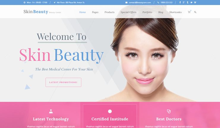 Skin Beauty Spa Salon WordPress Theme