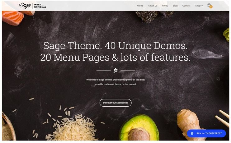 40 Best WordPress Restaurant Themes For 2019 Slashwp