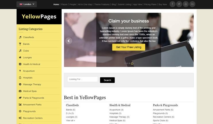 10+ Best Yellow Pages Scripts To Create Online Yellow Pages Business