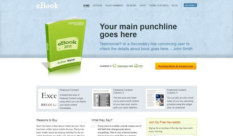 22+Best WordPress themes for Authors, writers, publishers and ebooks ...