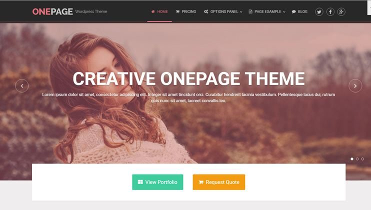 35+ Amazing and Free One Page WordPress Themes for 2019