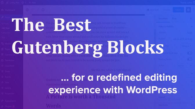 best WordPress Gutenberg editor